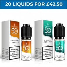 50/50 Bundle Deal of 20 E-Liquids MENTHOL & MINT