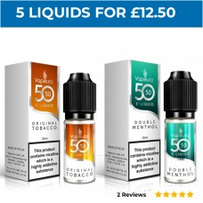 50/50 Bundle Deal of 5 E-Liquids MENTHOL & MINT