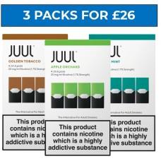 JUUL Pods Bundle Deal of 3 Packs LIQUIDS