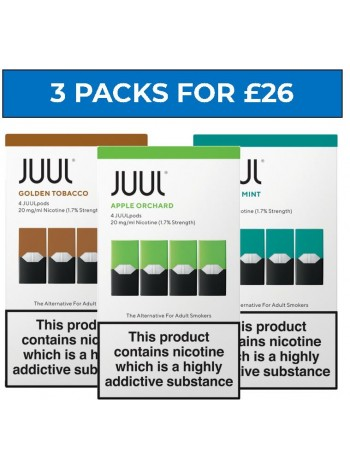 JUUL Pods Bundle Deal of 3 Packs LIQUIDS