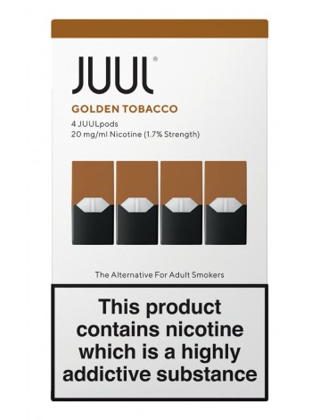 JUUL Golden Tobacco 4 Pods  LIQUIDS