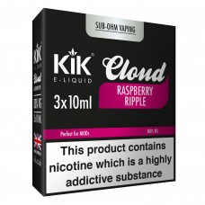 30ml Dripper Kik Cloud Vape Raspberry Ripple Sub Ohm E-Liquid LIQUIDS