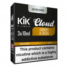 30ml Dripper Kik Cloud Vape Cookies & Cream Sub Ohm E-Liquid LIQUIDS