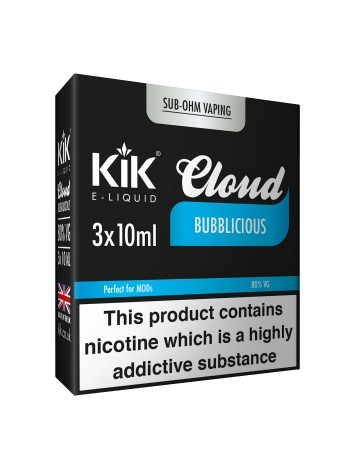 30ml Kik Cloud Sub-Ohm Liquids Bundle Deal of 3 E-Liquids