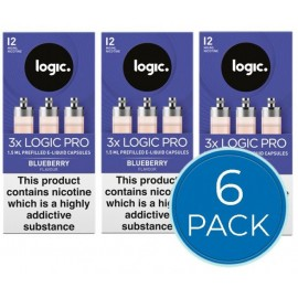 Logic Pro Blueberry Capsules Refills Bundle Deal of 6 Packs LIQUIDS