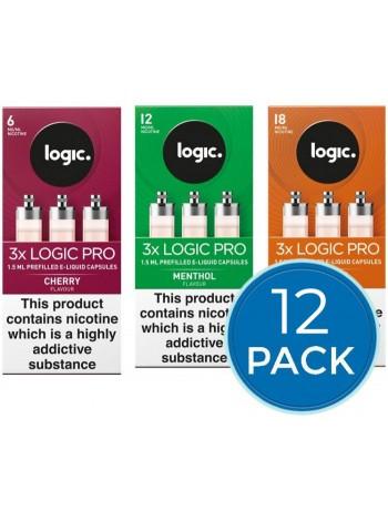 12 x Logic Pro Capsules Refills Bundle Deal LIQUIDS