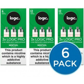 E-Lites Logic Pro Menthol Capsules Refills Bundle Deal of 6 Packs LIQUIDS