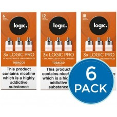 E-Lites Logic Pro Tobacco Capsules Refills Bundle Deal of 6 Packs LIQUIDS