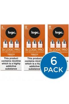 E-Lites Logic Pro Tobacco Capsules Refills Bundle Deal of 6 Packs LIQUIDS