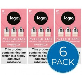 Logic Pro Watermelon Capsules Refills Bundle Deal of 6 Packs LIQUIDS