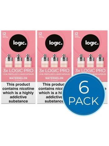 Logic Pro Watermelon Capsules Refills Bundle Deal of 6 Packs LIQUIDS