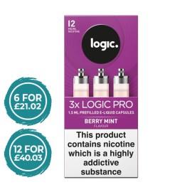 Logic Pro Berry Mint Capsules Refills 3 Pack LIQUIDS
