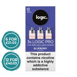 Logic Pro Blueberry Capsules Refills 3 Pack LIQUIDS