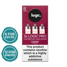 Logic Pro Cherry Capsules Refills 3 Pack LIQUIDS