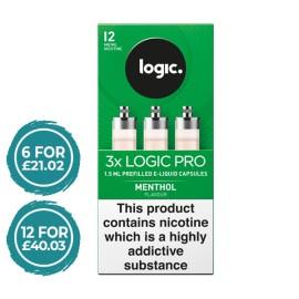 Logic Pro Menthol Capsules Refills 3 Pack LIQUIDS