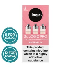 Logic Pro Watermelon Capsules Refills 3 Pack LIQUIDS