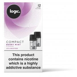 Logic COMPACT Berry Mint Capsules Refills 2 Pack LIQUIDS