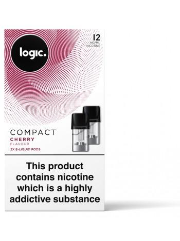 Logic COMPACT Cherry Pod Refills 2 Pack LIQUIDS