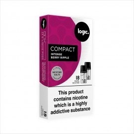Logic COMPACT Intense Berry Ripple Pod Refills 2 Pack LIQUIDS
