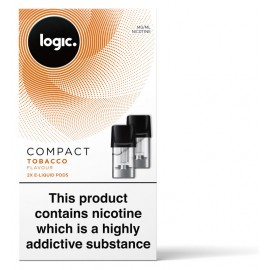 Logic COMPACT Tobacco Pod Refills 2 Pack LIQUIDS