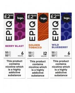 Logic EPIQ 50/50 E-Liquid Bundle Deal of 6 Liquids LIQUIDS