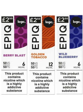 Logic EPIQ 50/50 E-Liquid Bundle Deal of 6 Liquids LIQUIDS