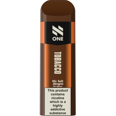 N-ONE Disposable Pod Tobacco 20mg 'NIC' SALTS