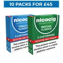 Nicocig Cartomiser Refills Bundle 10 Pack