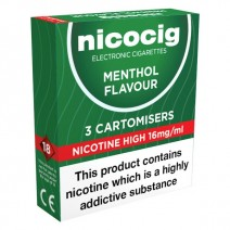 Nicocig Menthol Cartomiser Refills