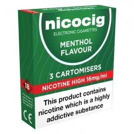 Nicocig Menthol Cartomiser Refills CARTOMISERS