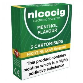 10 Nicocig Menthol Low CARTOMISERS