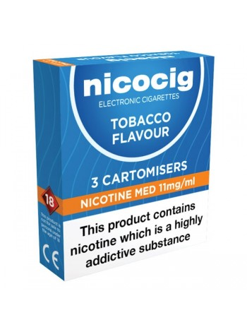 Nicocig Tobacco Cartomiser Refills Bundle 10 Pack CARTOMISERS