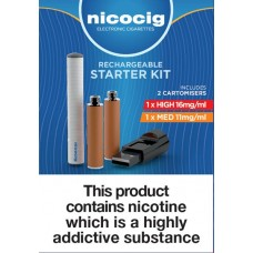 Nicocig Rechargeable Electronic Cigarettes Tobacco Starter Kit ECIGS STARTER KITS