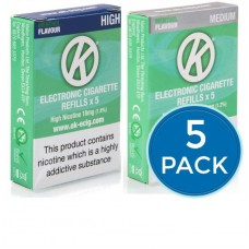 OK Menthol Cartomiser Cartridge Refills 5 Pack Bundle Deal CARTOMISERS