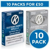OK Tobacco Cartomiser Cartridge Refills 10 Pack Bundle Deal