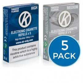 OK Tobacco Cartomiser Cartridge Refills 5 Pack Bundle Deal CARTOMISERS