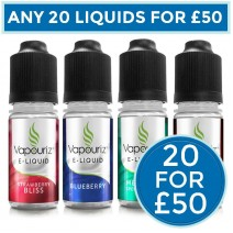 Vapouriz Liquids Bundle Deal of 20 E-Liquids