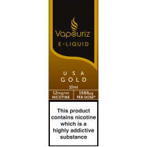 Vapouriz USA Gold Tobacco E-Liquid 10ml
