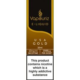 Vapouriz USA Gold Tobacco E-Liquid 10ml LIQUIDS