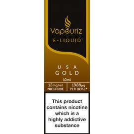 Vapouriz USA Gold Tobacco E-Liquid 10ml LIQUIDS