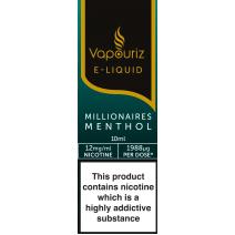 Vapouriz Millionaires Menthol E-Liquid 10ml