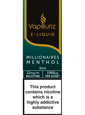 Vapouriz Millionaires Menthol E-Liquid 10ml LIQUIDS