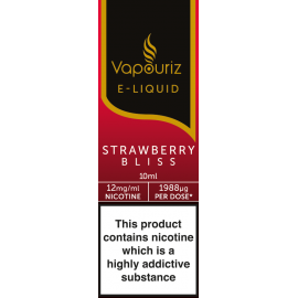 Vapouriz Strawberry Bliss E-Liquid 10ml LIQUIDS