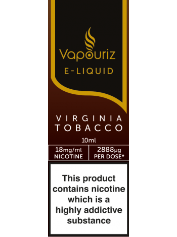 Vapouriz Virginia Tobacco E-Liquid 10ml LIQUIDS