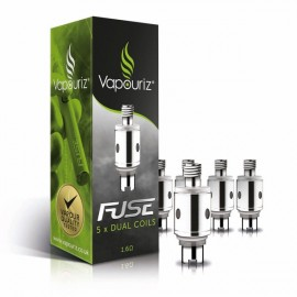 Vapouriz Fuse Dual Coil Clearomizer Heads/Coils - 5 Pack VAPING ACCESSORIES