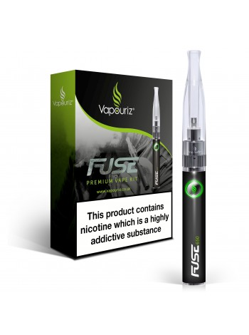 Vapouriz Fuse Electronic Cigarette Starter Kit Black + FREE Blue 650mah Battery ECIGS STARTER KITS