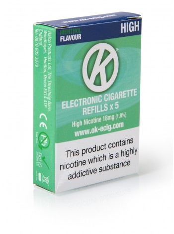 OK Menthol Cartomiser Cartridge Refills 10 Pack Bundle Deal CARTOMISERS