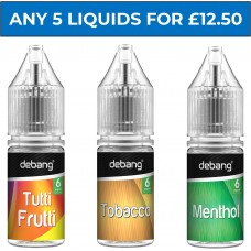 Debang Liquids Bundle Deal of 5 E-Liquids LIQUIDS